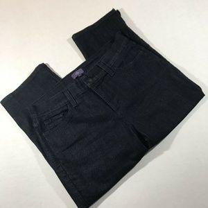 Nydj Womens Capri Jeans size10 cropped blue denim